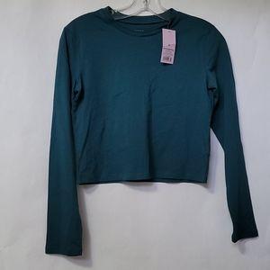 Wild Fable Women's Long Sleeve T-Shirt Blue XS